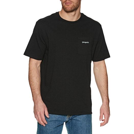 Camiseta de manga corta Patagonia Line Logo Ridge Pocket Responsibilitee