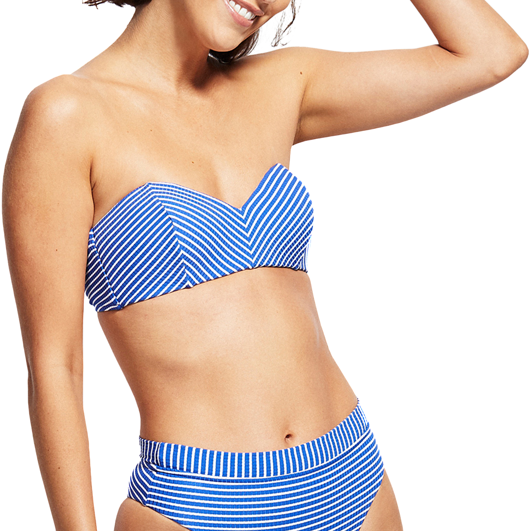 Seafolly Damen Castaway Stripe Bustier Bandeau Bikinioberteil