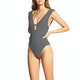 Seafolly Go overboard Deep V Womens Swimsuit