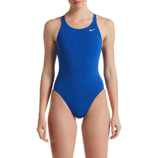 Nike Swim Poly Solid Hydrastrong Fast Back One Piece Swimsuit