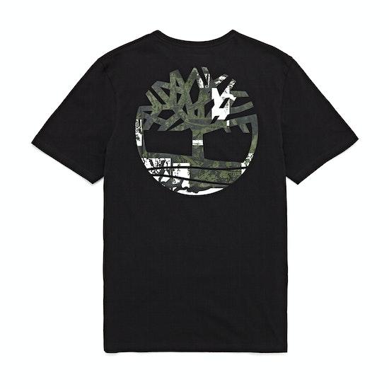 T-Shirt à Manche Courte Timberland Back Logo Camo