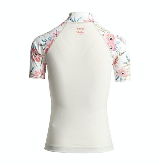 Billabong Flower Short Sleeve Womens Rash Vest