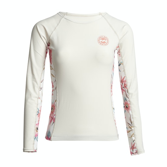 Billabong Flower Yoke Ls Womens Rash Vest