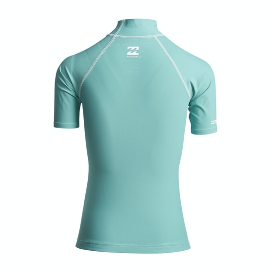 Billabong Logo In Short Sleeve Womens Rash Vest