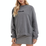Afends Stella Slouchy Crew Neck Womens Sweater