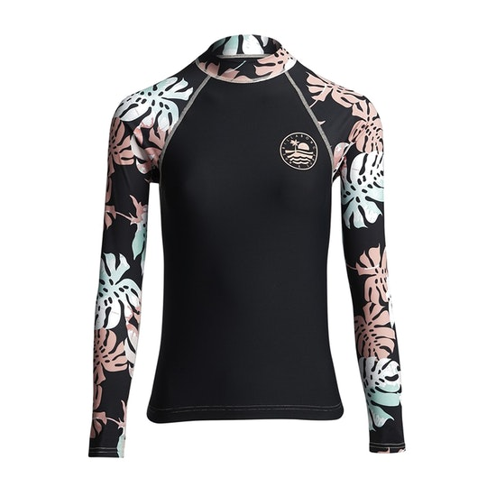 Billabong Flower Ls Girls Rash Vest