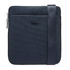 Lacoste Chantaco Matte Piqué Leather Flat Zip Messenger Bag