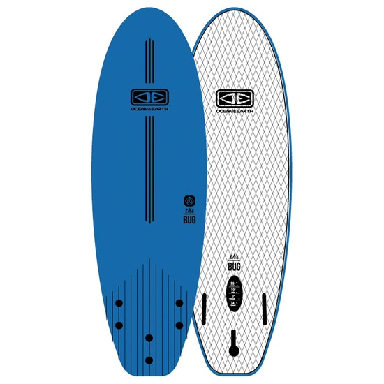 Ocean and Earth Bug Softboard 3 Fins Surfboard