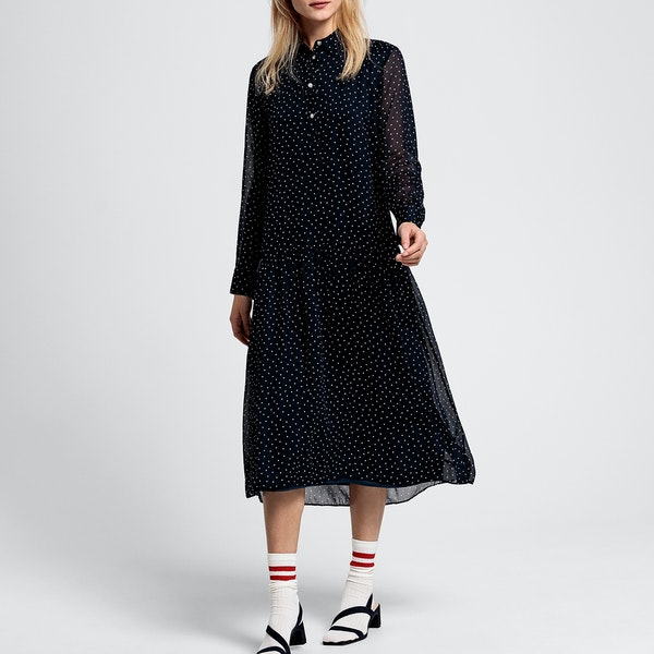 Gant French Dot Chiffon Damen Kleid