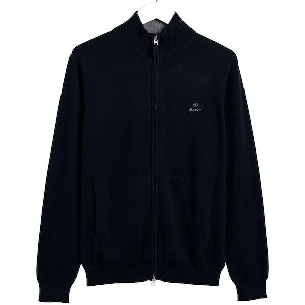 Gant Classic Cotton Zip Strickjacke