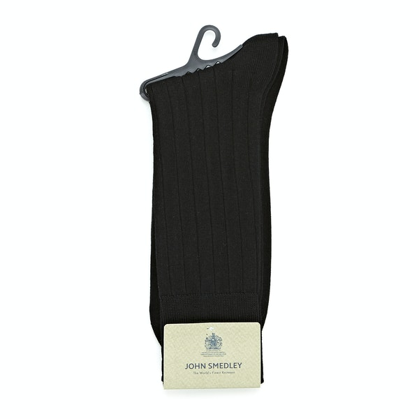 John Smedley Delta Ribbed Ankle Men's Fashion Socks