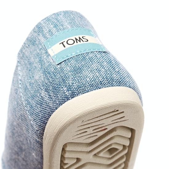 Toms Slub Chambray Classic Womens Slip On Shoes
