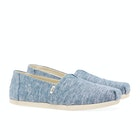 Toms Slub Chambray Classic , Slip-on skor Dam