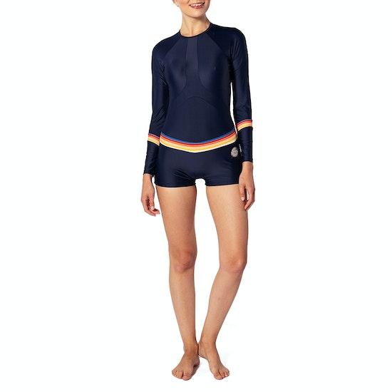 Rip Curl Long Sleeve Boyleg UV Surf Suit Womens Rash Vest