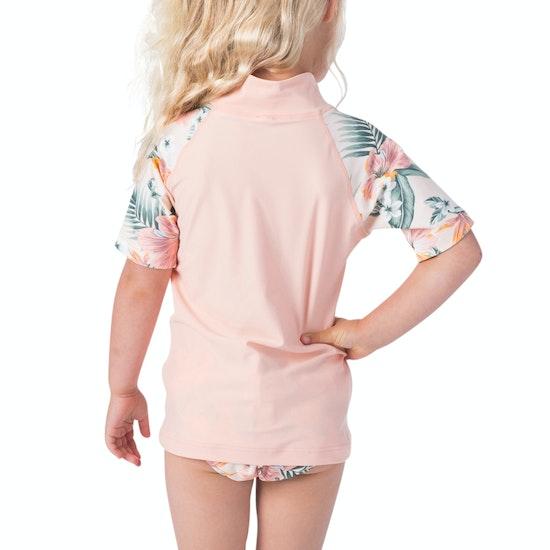 Rip Curl Mini Coconut Time Ss Girls Rash Vest