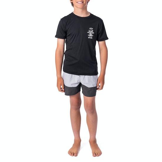 Rip Curl Boys Search Logo Ss Boys Rash Vest
