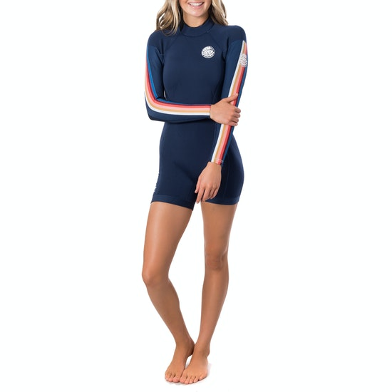 Rip Curl Dawn Patrol 2mm Long Sleeve Shorty Womens Wetsuit