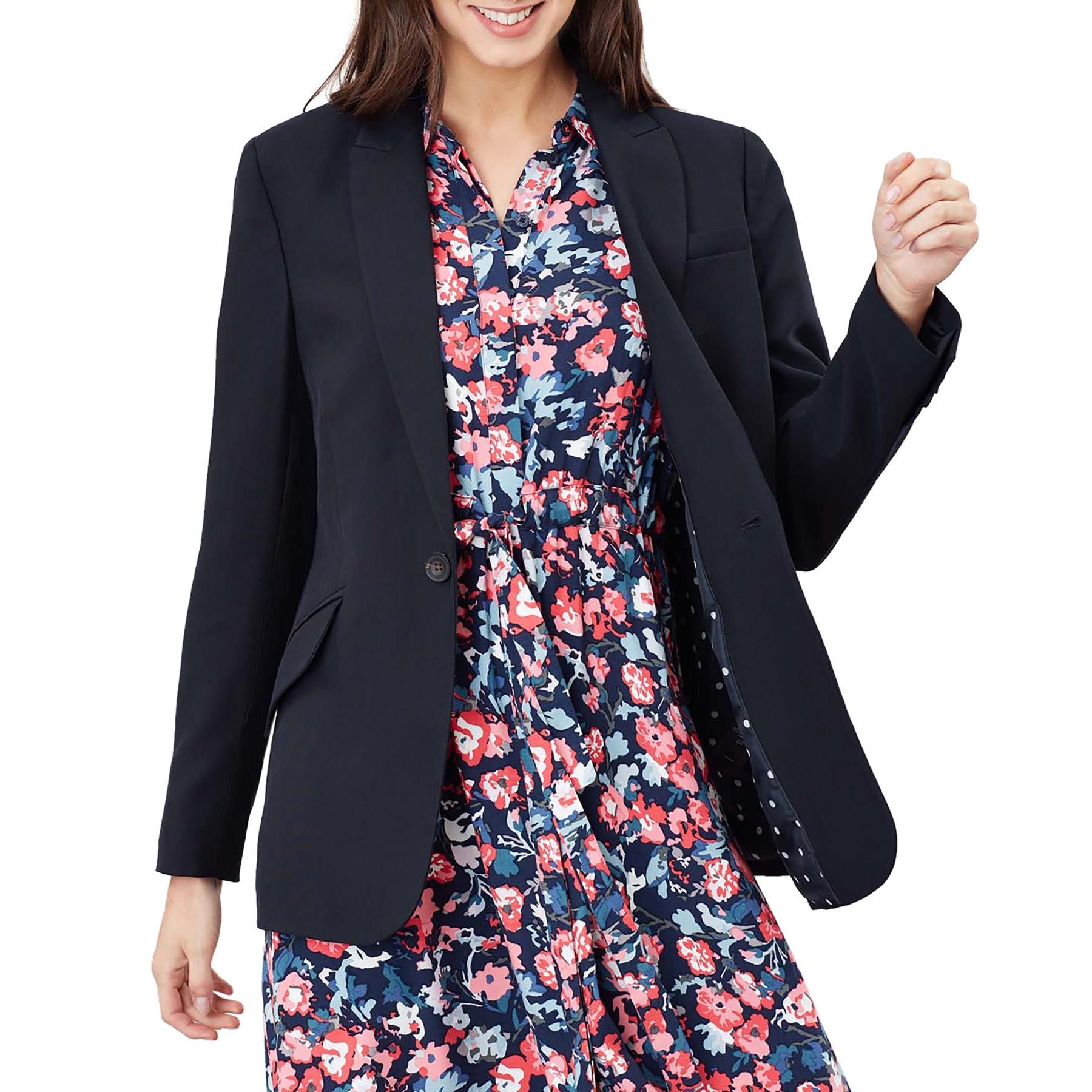 Navy All Sizes Joules Polly Womens Jacket Blazer