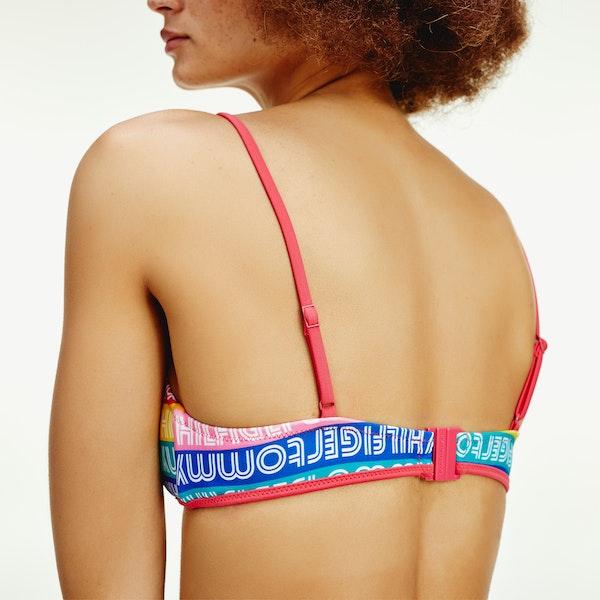 Haut de maillot de bain Femme Tommy Hilfiger Rainbow Triangle Fixed