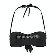 Emporio Armani Stretch Classic Knit Women's Bikini Top