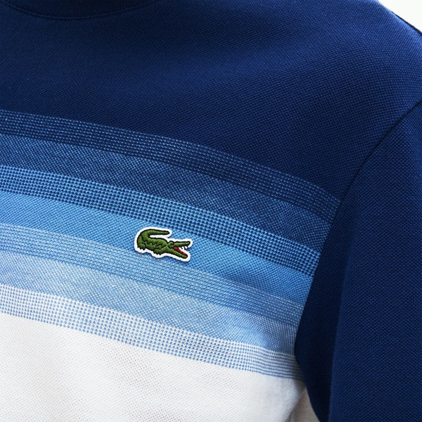 T-Shirt à Manche Courte Lacoste Made in France Cotton Piqué Cotton Crew Neck