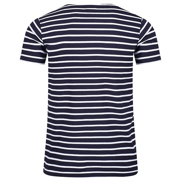 Armor Lux Breton Striped Damen Kurzarm-T-Shirt