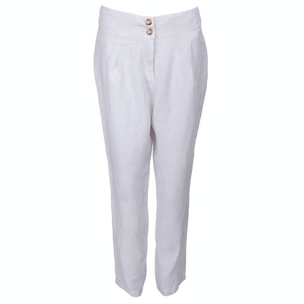 120 Lino Pleat Women's Trousers