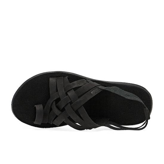 Teva Voya Strappy Leather Womens Sandals