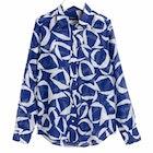 Gant Crescent Floral Cotton Silk Kvinner Skjorte