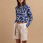 Gant High Waisted Pleated City Kvinner Shorts