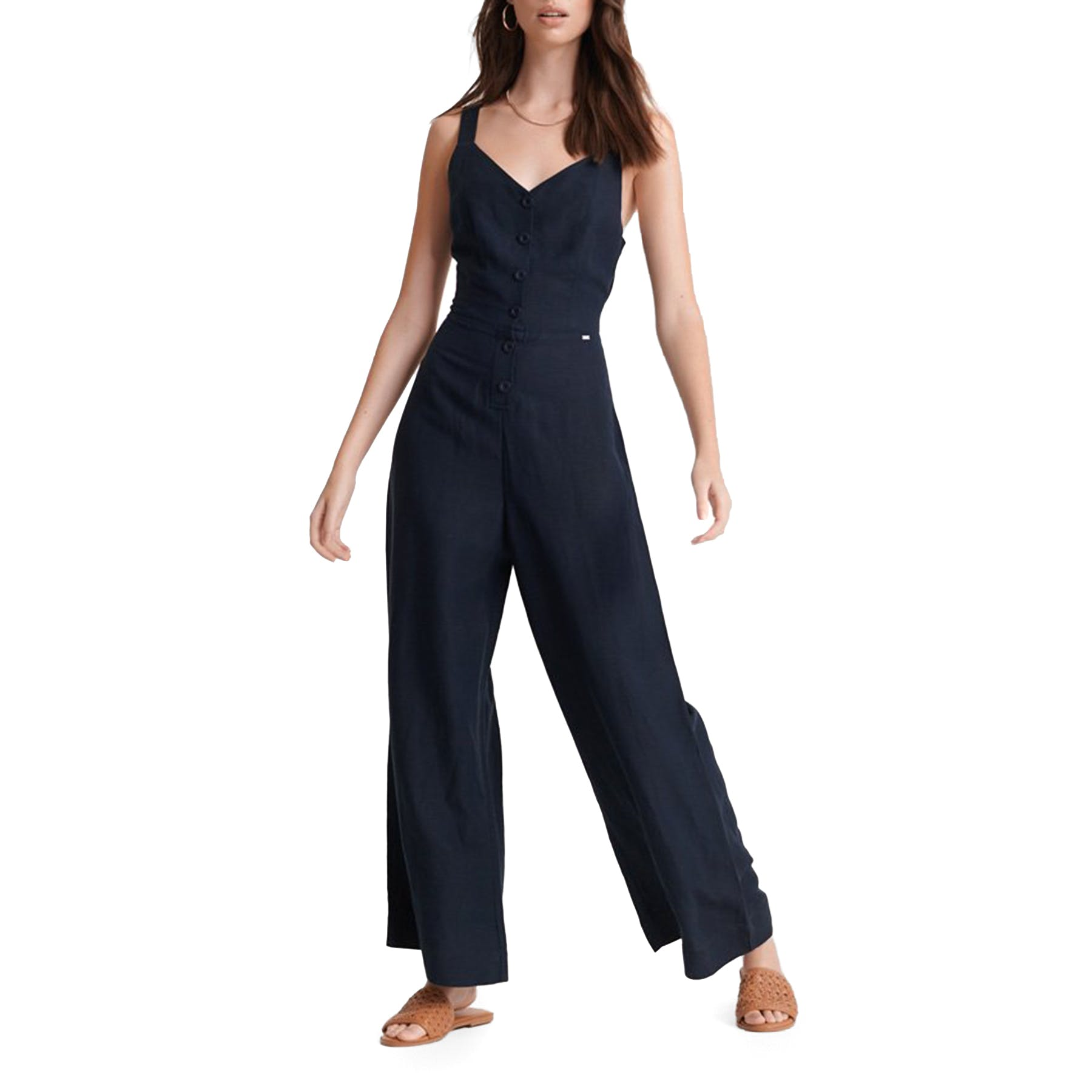 Superdry Eden Linen Trouser Pantalones para Mujer