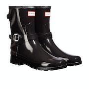 Stivali di Gomma Donna Hunter Ankle Strap Gloss