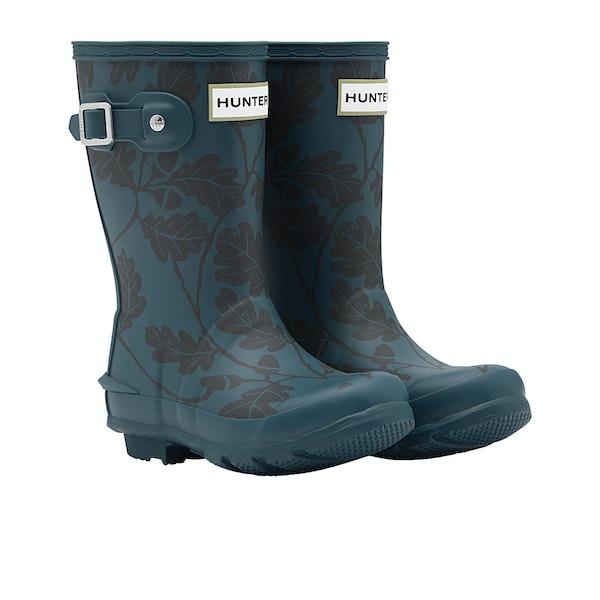 Hunter National Trust Print Kid's Wellington Boots