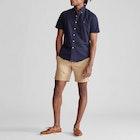 Polo Ralph Lauren Slim Fit Oxford Męskie Koszula z krótkim rękawkiem