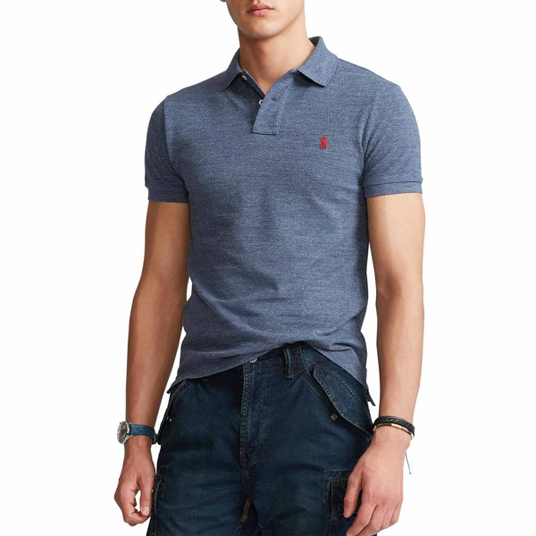 Polo Ralph Lauren Slim Fit Mesh Herren Polo-Shirt