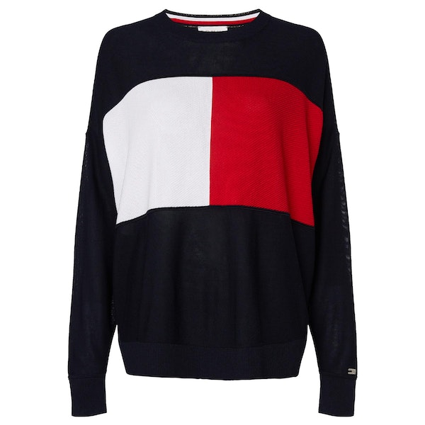 Tommy Hilfiger Icon Flag Crew Neck Women's Sweater