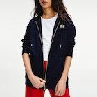 Tommy Hilfiger Icon Relaxed Through Damen Kapuzenpullover mit Reißverschluss