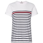 Tommy Hilfiger Stripe Round Neck Women's Short Sleeve T-Shirt