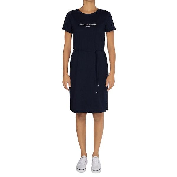Tommy Hilfiger Essential Logo Short Sleeve Šaty