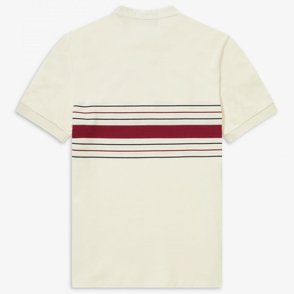 Fred Perry Re Issues Collarless Striped Pique Рубашка