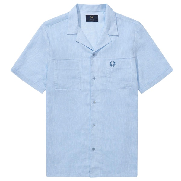 Fred Perry Re Issues Rever Collar Short Sleeve Shirt