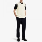 Fred Perry Re Issues Textured Cable Knit Tank Sweater
