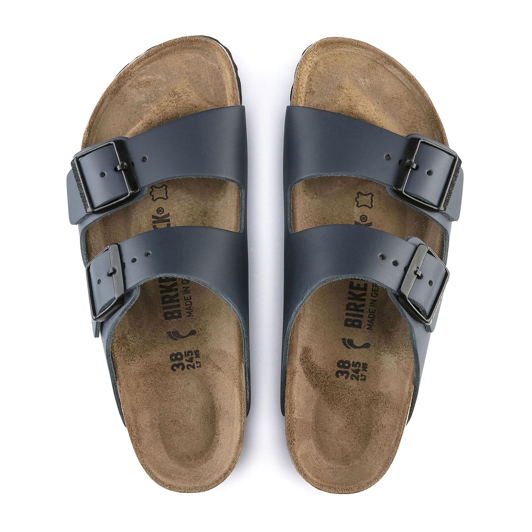 Birkenstock Arizona Smooth Nubuck Leather Sandalen Blue