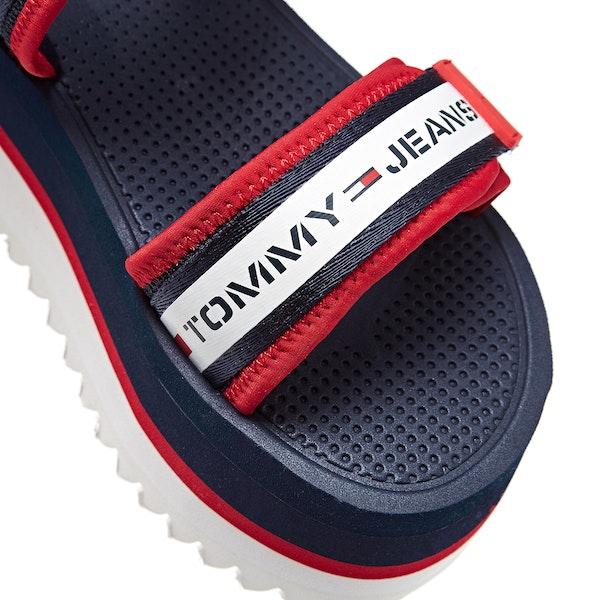 Tommy Jeans Chunky Tape Flatform Damen Sandalen