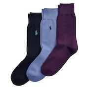 Fashion Socks Polo Ralph Lauren 3 Pack Crew