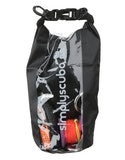 Simply Scuba 2l Black Tech Drybag - Black Clear