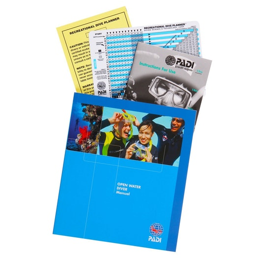 PADI Open Water Manual with RDP Table Manual
