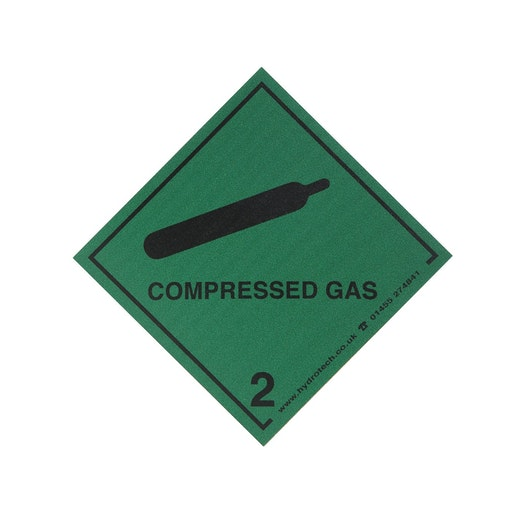 Hydrotech Magnetic Compressed Gas Diamond Safety Sticker