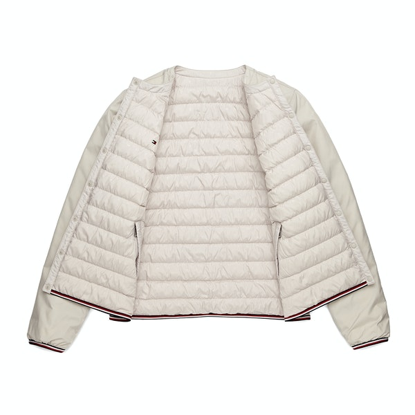 Tommy Hilfiger Bella Collarless Reversible Women's Down Jacket