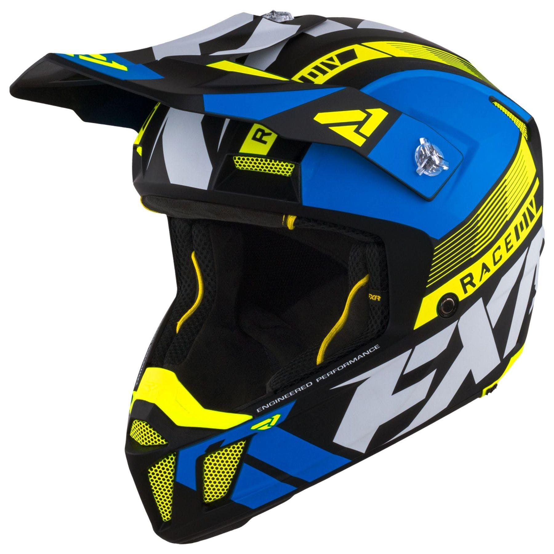 XS Qtech Childrens KIDS MOTOCROSS MX Style Helmet BMX Quad Bike Spectre by Yellow